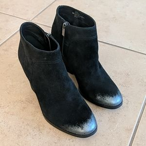 Isola Leandra Black Soft Leather Ankle Dress Booties - Size 9